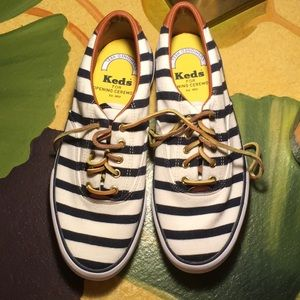 Opening Ceremony Keds white/blk Stripe 8